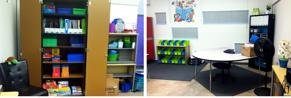 Take a peek at my very first classroom while I'm setting it up!