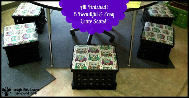 Need more storage in your classroom? Create these fun and DIY crate seats with little supplies. I'm sharing with you how to make these and use them in your classroom.