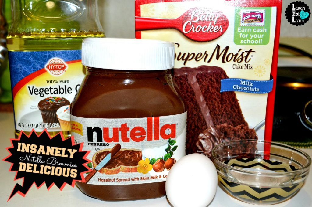 These brownies are everything! The nutella is just an extra level of love to make these the fudgiest brownies ever! They are easy, can come out of the box, and made in one bowl type of recipe.
