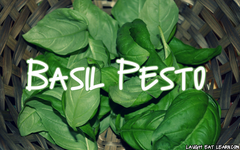 This homemade basil pesto recipe is perfect for any recipe you want to use it for. It's made without nuts, and can be freezed or stored in the fridge for up to two weeks. The sauce is tasty and flavorful and so easy to make!