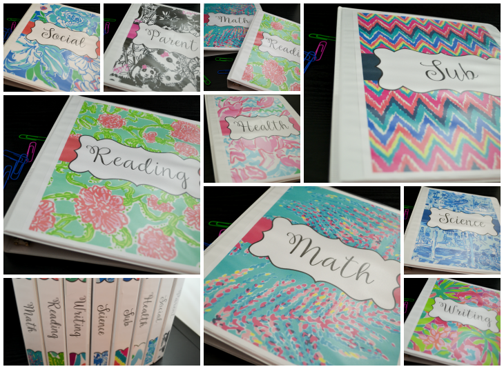 If you love organization as much as I do, you'll love the fun and bright binder covers I've created! They are not only adorable but also very functional in any setting you want to use them. I use them for my home, to keep recipes in my kitchen, classroom, as well as school lists.