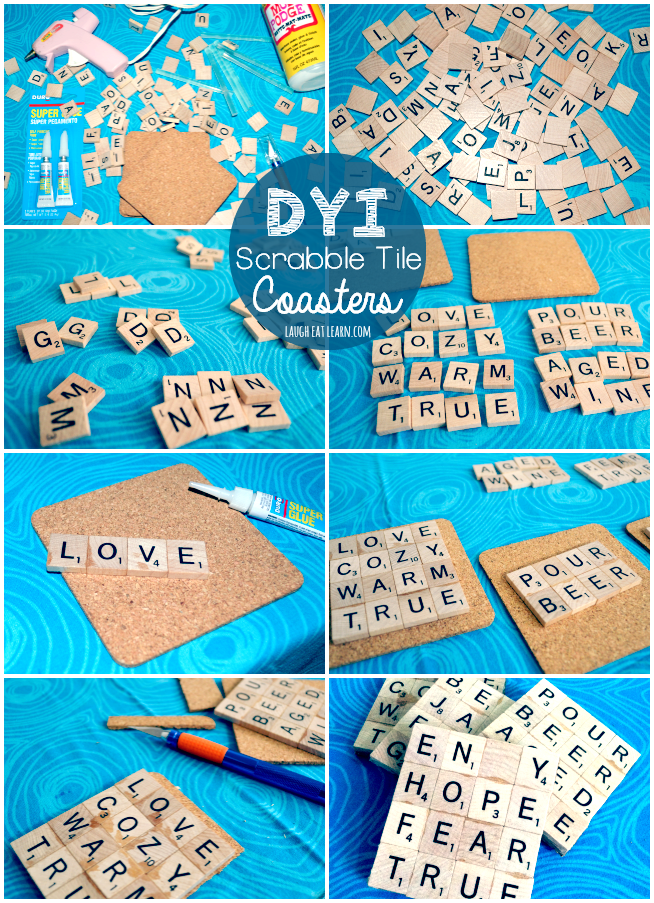 Create your own DIY Scrabble Tile Coasters perfect for your house, a gift, or just because! These art pieces will be a crowd pleaser for any board game lover.