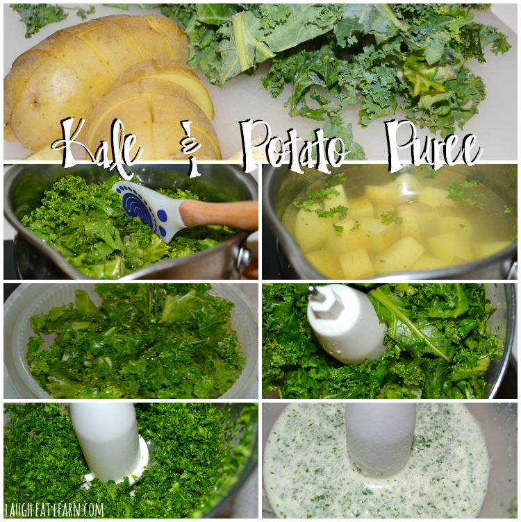 This is by far a favorite recipe and perfect side dish to any meal. It's packed full of healthy goodness with the kale, and the potatoes are a great bind. This recipe is quick and easy and so healthy!