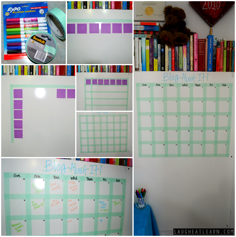 I love everything organizing! I'm sharing my process of cleaning through my office drawers with the use of dollar store bins. I'm also getting organized with my homemade giant blog calendar. This way I can keep track of all of my goals and find a pencil at the same time!