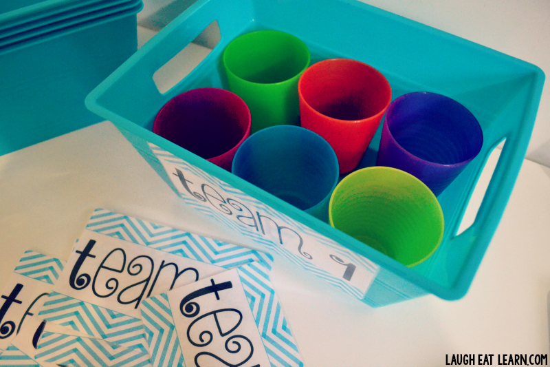 These supply bins are cheap, easy, and a perfect way to organize supplies for a whole team! They will go perfect with any bright and colorful classroom. Just slap some laminated labels on them and you'll be good to go!
