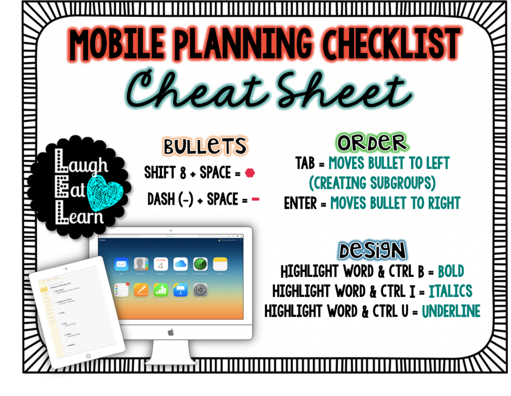 As a teacher, we are always on the go. I've turned in my notes app into a mobile checklist for my classroom to dos. Grab these directions and set up so you are ready to go at anytime!