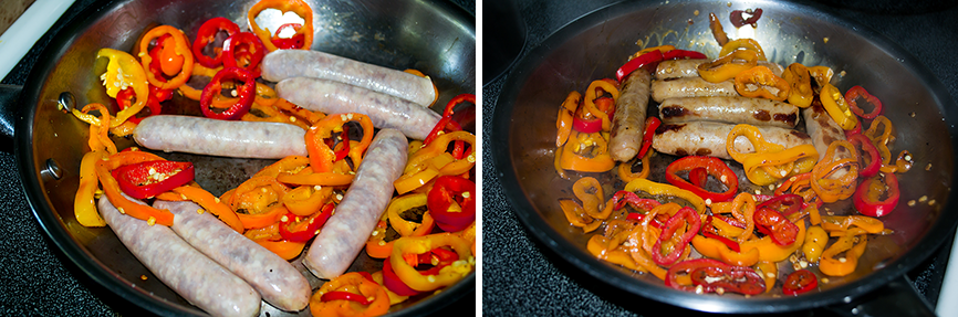 Looking for an easy breakfast recipe for the weekends? These quick sausage and eggs with peppers will spruce up any morning menu!