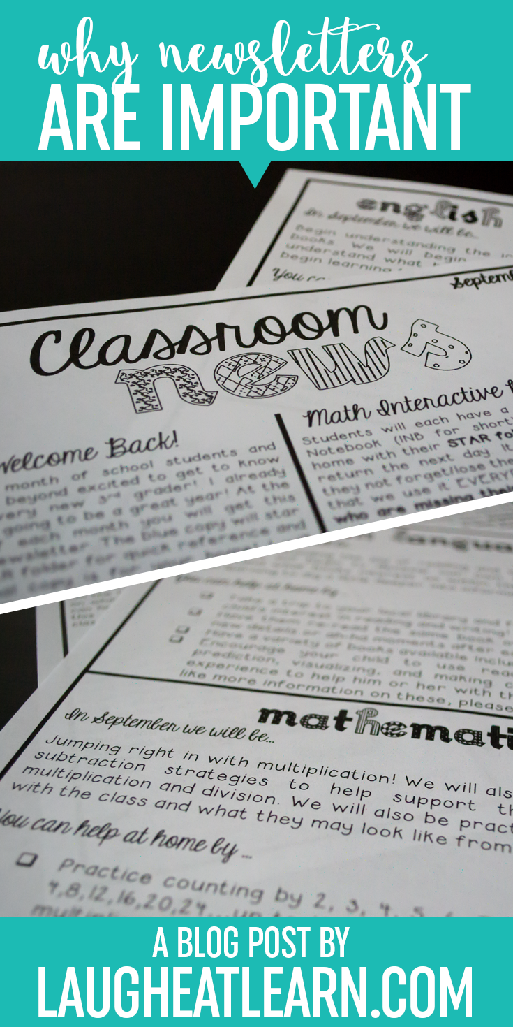 Classroom Newsletters are such an important part of any classroom. Whether you sent them home weekly or monthly, your student's parents are really going to appriecate and look forward to a sneak peak of your classroom. I'm sharing my personal story and background with newsletter through my career as a teacher and how I can quickly send out a lot of information to parents every month with this easy editable template.