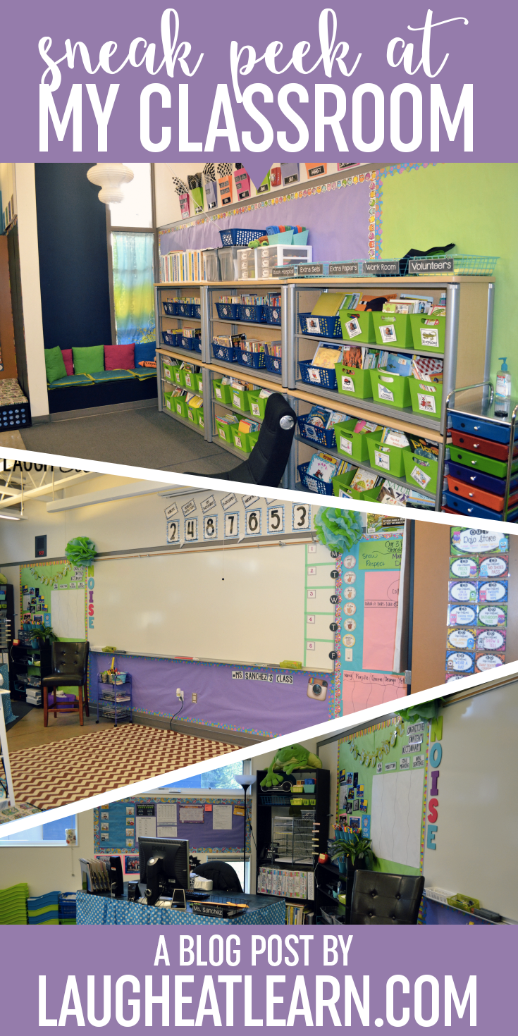 Before your new students come in for a new school year, check out my sneak peek at my classroom layout with tons of ideas for the perfect setup. I've included a ton of photos to share my design with the classroom tables, and our areas throughout the classroom.