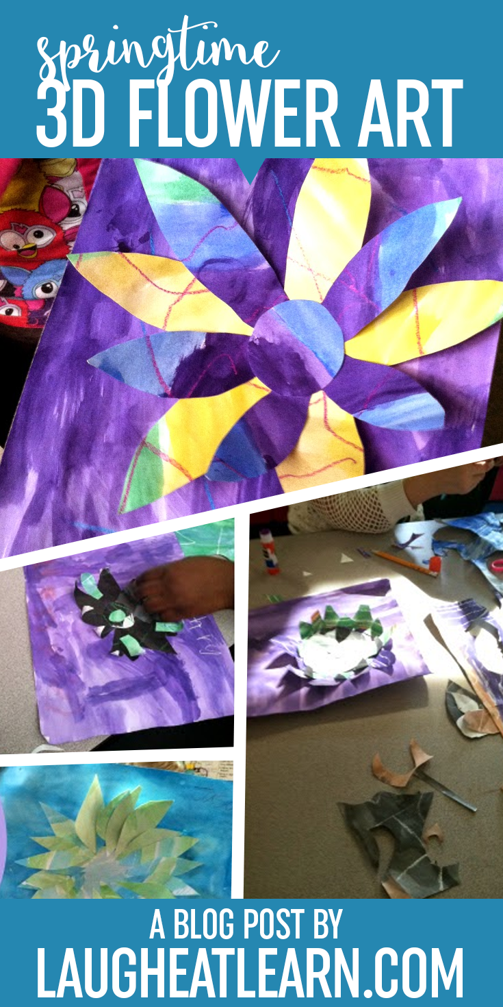 I decided my kids need an afternoon of art. I'm a huge component of watercolor in the classroom so we used watercolor to create these 3D flowers come to life. Students will love creating their own flowers!