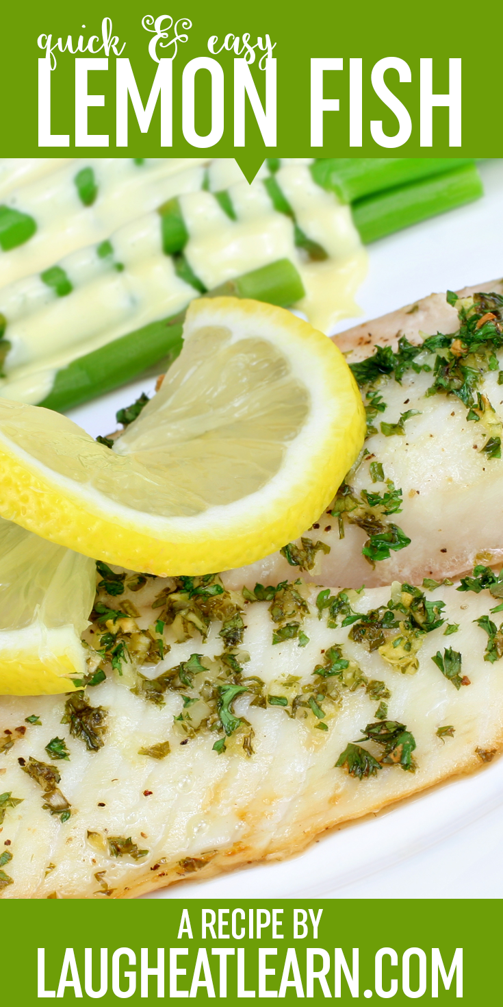 This lemon baked fish is quick and easy for any week night. Put it into a pouch and get it into the oven with your favorite vegetable.