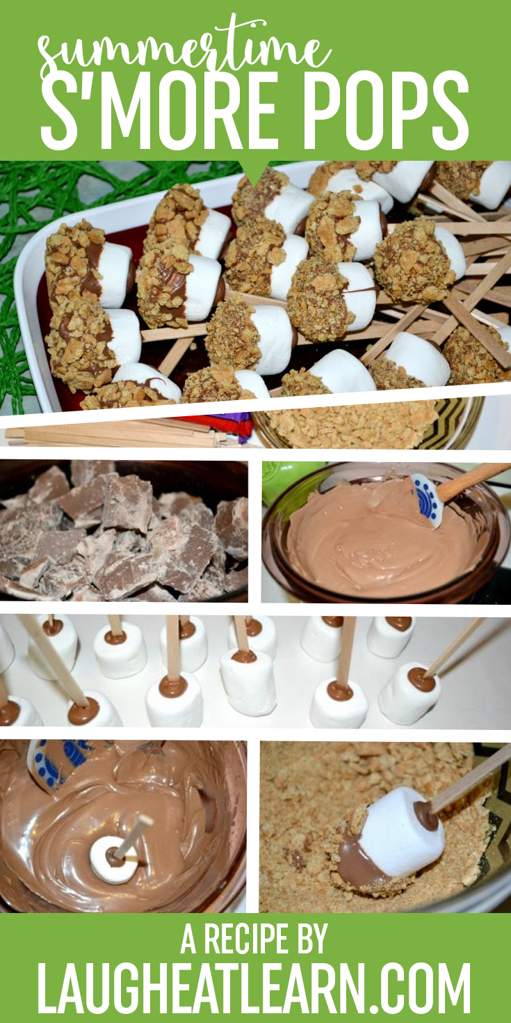 S'more pops are perfect for any party or camping trip you have planned! It can easily be made ahead of time and stored until you are ready to enjoy! Kids and adults will love this traditional treat.