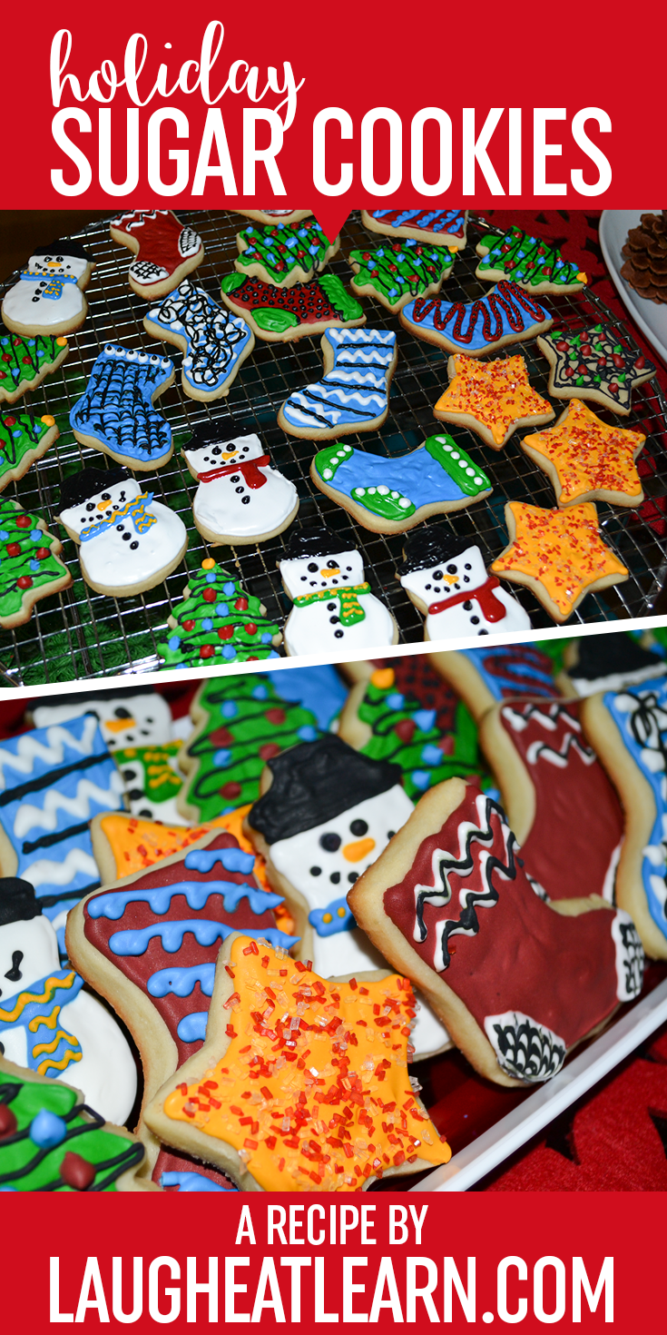 The holidays are the perfect excuse to make these delicious sugar cookies! They are completely kid friendly, easy to make, and fun to decorate around the Christmas tree. The recipe includes the details on the icing I used as well as some ideas to sprinkle on with your family this holiday season!