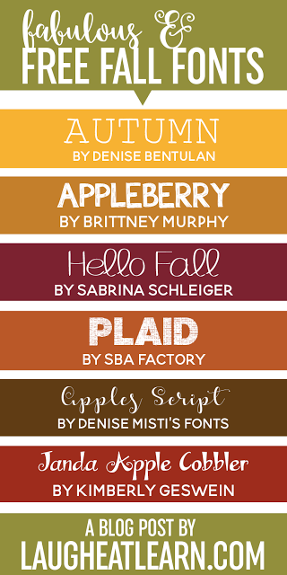 I'm happy to share some fabulous fall fonts with you that are inspired by this beautiful autumn season. All of these fall fonts are free for personal use from dafont.