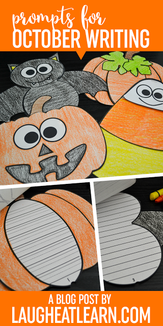 Themed writing craftivities and prompts are perfect for October for your students. They can be used in centers, group story shares, whole group activities, or just a stand alone during your writing block. These writing prompts pair perfectly with these silly flippable books allowing kids to write and have fun!