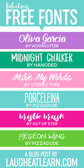 Looking for some fabulous and FREE fonts? Make sure to come check out a variation of downloadable fonts featuring clean, script, chalkboard types (and many more!) for your design needs!
