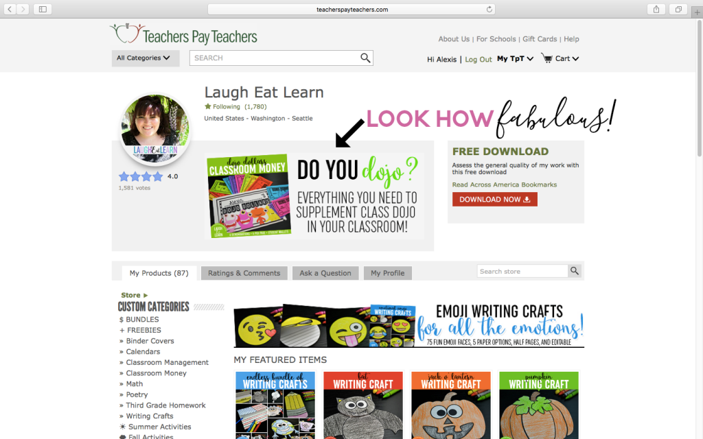 Calling all Teacherpreneurs! Learn how to create and install a quotebox image in your Teachers Pay Teachers shop. The quotebox space is a perfect space for branding and/or promotion for your best selling classroom products. This tutorial is easy to follow and includes a FREE template to make your own images for your TPT store!