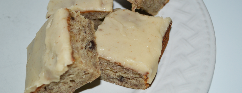 These brown butter banana bread bits are beyond delicious with a browned butter frosting and a moist banana bread recipe. You can either serve it traditional in slices or easily create muffins with this recipe.