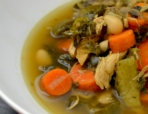 "Chicken ""Bone"" Slow Cooker Soup"