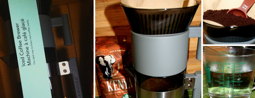 I purchased this iced coffee maker from Starbucks. Take a peek at how it worked out for my house!