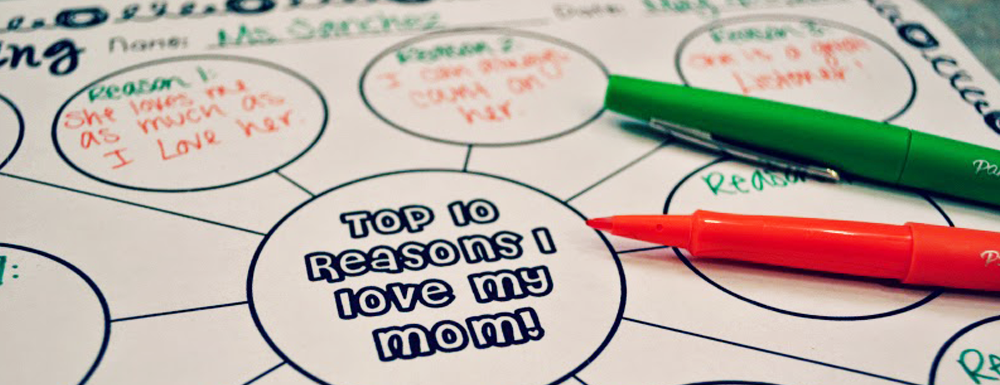 With Mother's Day just around the corner, I wanted to create something meaningful for my kiddos moms. I created this booklet so my students could express the many reasons they love their moms!
