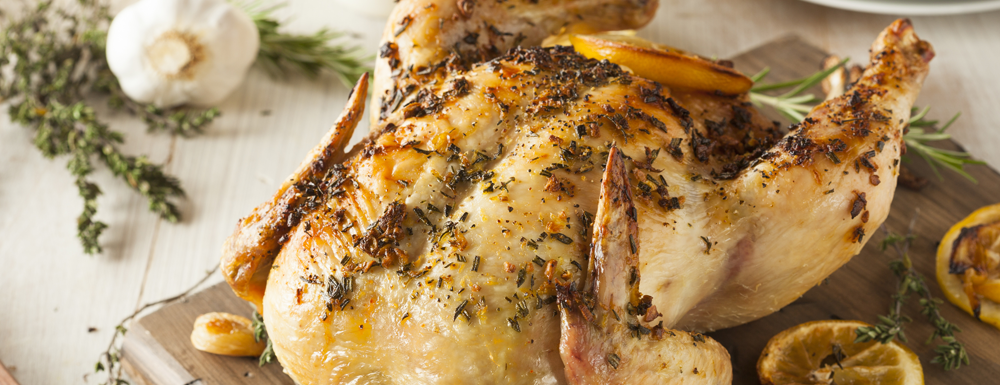 Lemon & Garlic Roasted Chicken