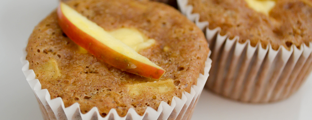Spiced Apple Cheesecake Muffins