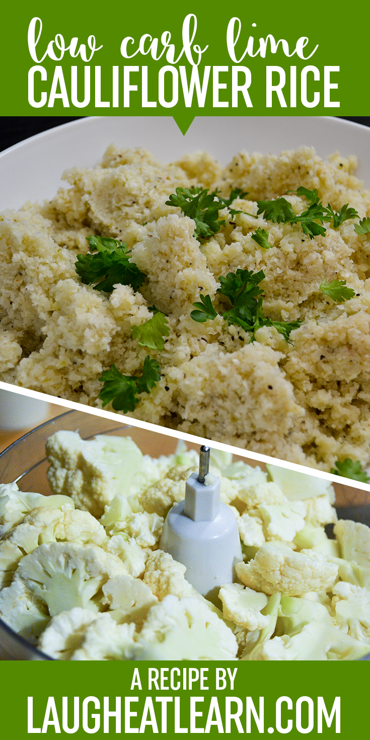 Cauliflower has become a staple in our household ever since we switched our eating lifestyle to low carb a few years ago. I honestly never knew how versatile Cauliflower can be until I couldn't have rice and mashed potatoes. If you have never tried cauliflower riced or in any other form, it really does hold up well to any sort of dinner you are pairing it with. I'm sharing today is the classic version I make for most of our dinners, using a little bit of lime to give it some extra oomph and usually mix in Cilantro or Parsley (whatever you have on hand) for some color.