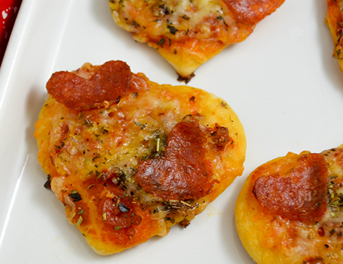 Mini Heart-Shaped Pizza