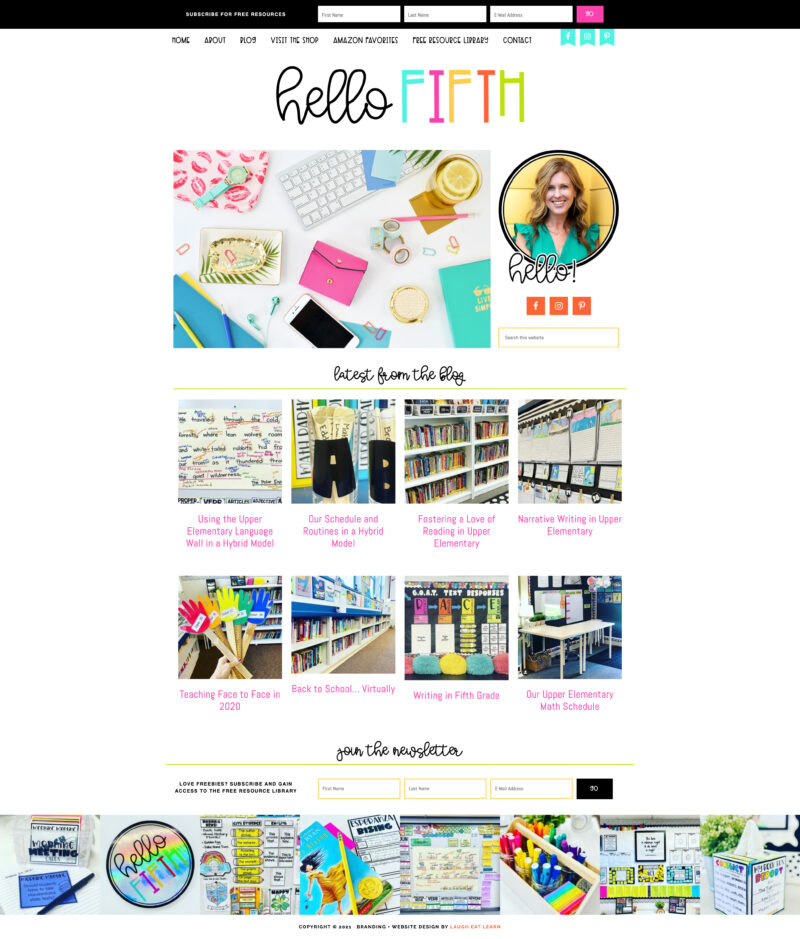 FINAL SS HOMEPAGE - HELLO FIFTH